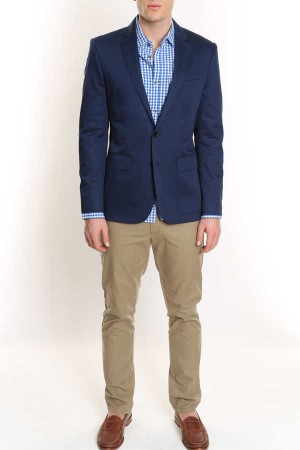 Stretch Cotton Blazer